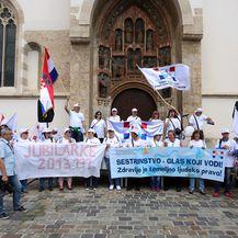 Prosvjed medicinskih sestara i tehničara (Foto: Borna Filic/PIXSELL)