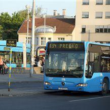Okretište tramvaja i autobusa u Zagrebu (Foto: Goran Stanzl/PIXSELL)
