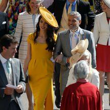 Amal je zablistala u sjajnoj žutoj haljini