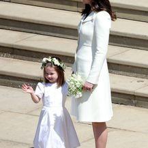 Catherine Middleton s princezom Charlotte i princom Georgeom na vjenčanju Meghan Markle i princa Harryja - 1