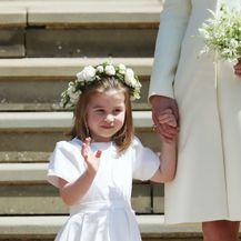 Catherine Middleton s princezom Charlotte i princom Georgeom na vjenčanju Meghan Markle i princa Harryja - 8