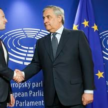 Mark Zuckerberg i Antonio Tajani (Foto: © European Union 2018 - Source : EP)
