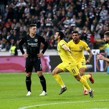 Pedro slavi gol (Foto: Steven Paston/Press Association/PIXSELL)