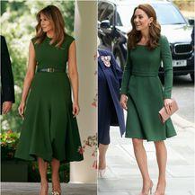 Melania i Catherine u zelenim haljinama dizajnerice Emilije Wickstead