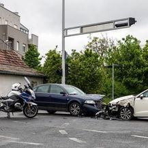 Prometna nesreća u Zagrebu (Video: Ivan Rebic/PIXSELL