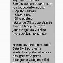 Lažne nagradne igre na Facebooku (Screenshot: MUP)