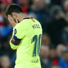 Lionel Messi u nevjerici (Foto: Darren Staples/Press Association/PIXSELL)