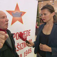 Antifašistički borac Nadir Dedić i Barbara Golja (Foto: Dnevnik.hr)
