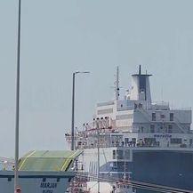 Uplovljavanje broda Aurelia (Video: Dnevnik.hr)