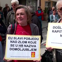 Prosvjed antifašista u Bleiburgu (Foto: Screenshot/Dnevnik.hr)