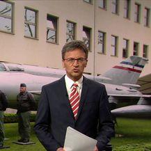 Rudijev avion ispred MORH-a (Video: Vijesti u 17h)