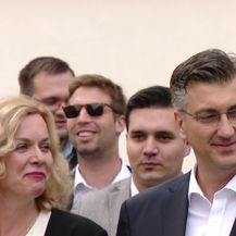 Manfred Weber stigao na Markov trg (Video: Dnevnik.hr)