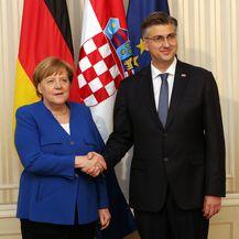 Angela Merkel stigla na sastanak s Plenkovićem (Foto: Robert Anic/PIXSELL) - 3