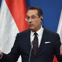 Austrijski potpredsjednik i predsjednik FPOe stranke slobode Heinz-Christian Strache (Foto: AFP)