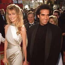 Claudia Schiffer i David Copperfield (Foto: AFP)