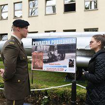 Brojni građani došli vidjeti Perešinov MiG (Foto: MORH) - 2