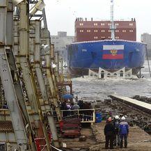 Porinuće ledolomca Ural (Foto: AFP)