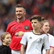 Harper Seven i Cruz s tatom Davidom Beckhamom na humanitarnoj utakmici