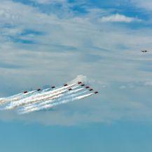 """Akrobatska grupa Hrvatskog ratnog zrakoplovstva """"Krila Oluje"""" i akrobatska grupa Ujedinjenog kraljevstva RAF-a \"""