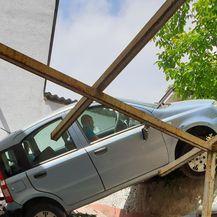 S automobilom završio na krovu kuće u Zagrebu - 4