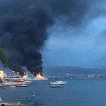 Požar u marini u Kaštel Gomilici - 2