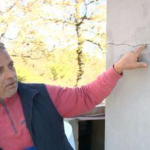 Mještanin Vilanije pokazuje oštećenja na kući (Foto: Dnevnik.hr)