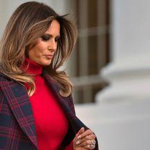 Melania Trump u Bijeloj kući na primopredaji drvca - 4