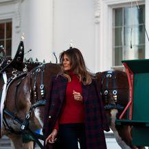 Melania Trump u Bijeloj kući na primopredaji drvca - 5
