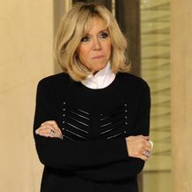 Brigitte Macron na sastanku u Elizejskoj palači - 1