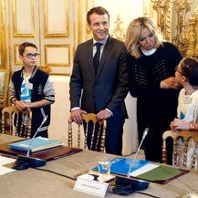Brigitte Macron na sastanku u Elizejskoj palači - 4