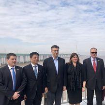 Hrvatsko izaslanstvo predvođeno premijerom Andrejom Plenkoviće u Kini (Foto: Twitter)