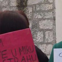Prosvjed u Pučišćima na Braču (Video: DNEVNIK.hr)
