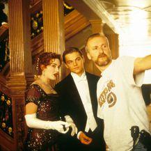Kate, Leonardo i James Cameron na snimanju filma