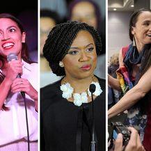 Slijeva nadesno Alexandria Ocasio-Cortez, Ayanna Pressley, Sharice Davids (Foto: AFP)