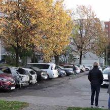 U Zagrebu gorjeli automobili (Video: Pixell)