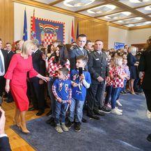 Vatreni na primanju kod predsjednice (Foto: Luka Stanzl/PIXSELL)