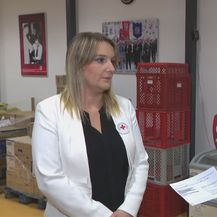 Katarina Zorić iz Crvenog križa i Vjekoslav Đaić (Foto: Dnevnik.hr)