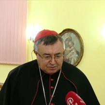 Ivana Petrović intervjuirala kardinala Vinka Puljić, vrhbosanskog nadbiskupa (Video: Dnevnik Nove TV)