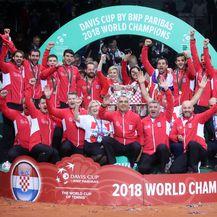 Hrvatska slavi Davis Cup naslov (Foto: Sanjin Strukic/PIXSELL)
