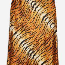 Topshop suknja, boja hrđe/životinjski uzorak, 35 funti
