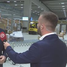Krešimir Domjančić, voditelj Odjela za odnose s javnošću Hrvatske pošte, i Vjekoslav Đaić (Foto: Dnevnik.hr)