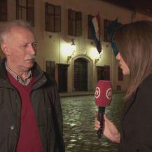 Branimir Mihalinec iz Nezavisnog sindikata zaposlenih u srednjim školama i Sanja Vištica (Foto: Dnevnik.hr)