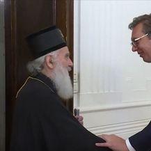 Patrijarh Irinej i Aleksandar Vučić