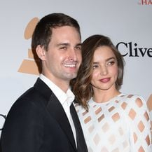 Miranda Kerr i Evan Spiegel (Foto: Tammie Arroyo/Press Association/PIXSELL)