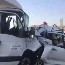 Strašna prometna nesreća u Srbiji (Screenshot: Telegraf.rs)