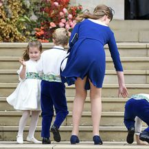 Princeza Charlotte i princ George na vjenčanju princeze Eugenie - 7