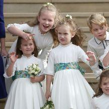 Princeza Charlotte i princ George na vjenčanju princeze Eugenie - 8