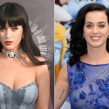 Katy Perry sa šiškama i bez njih