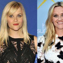Reese Witherspoon sa šiškama i bez njih