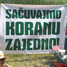 Za Koranu bez hidroelektrana (Foto: Pixsell)
